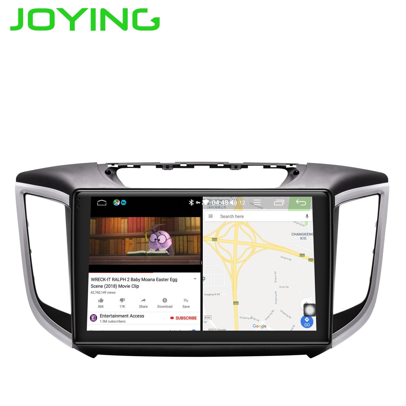 Android 8.1 octa core 4 + 32 GB JOYING 10.1 pouces HD voiture dvd gps stéréo pour HYUNDAI IX25 CRETA radio vidéo audio lecteur multimédia