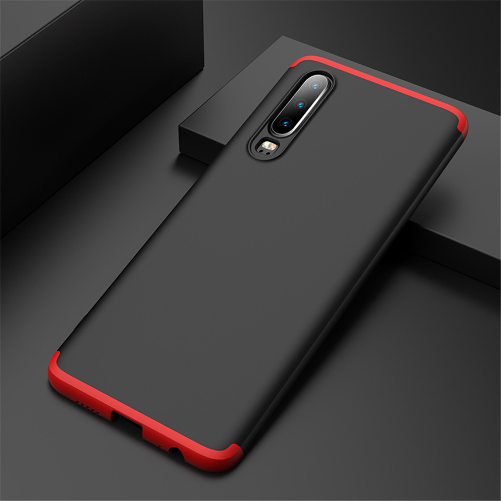 For Huawei P30 Pro P30 lite Case 3 IN 1 360 Full Protection Ultra Thin Matte PC Back Cover For Huawei P30 Pro P30 Phone Case in Fitted Cases from Cellphones Telecommunications