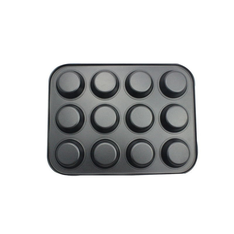 Recipe Right Nonstick 12-Cup Regular Muffin Pan Cake Mould Baking Decorating Tools Cupcake Mold Bake Tool image