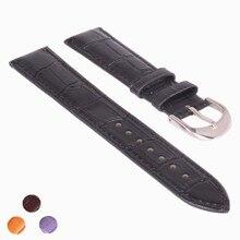 Durable men women Black Genuine Leather watch strap for men &women 12 ,14,16 18 20 22 mm genuine leather Watch Band 22mm
