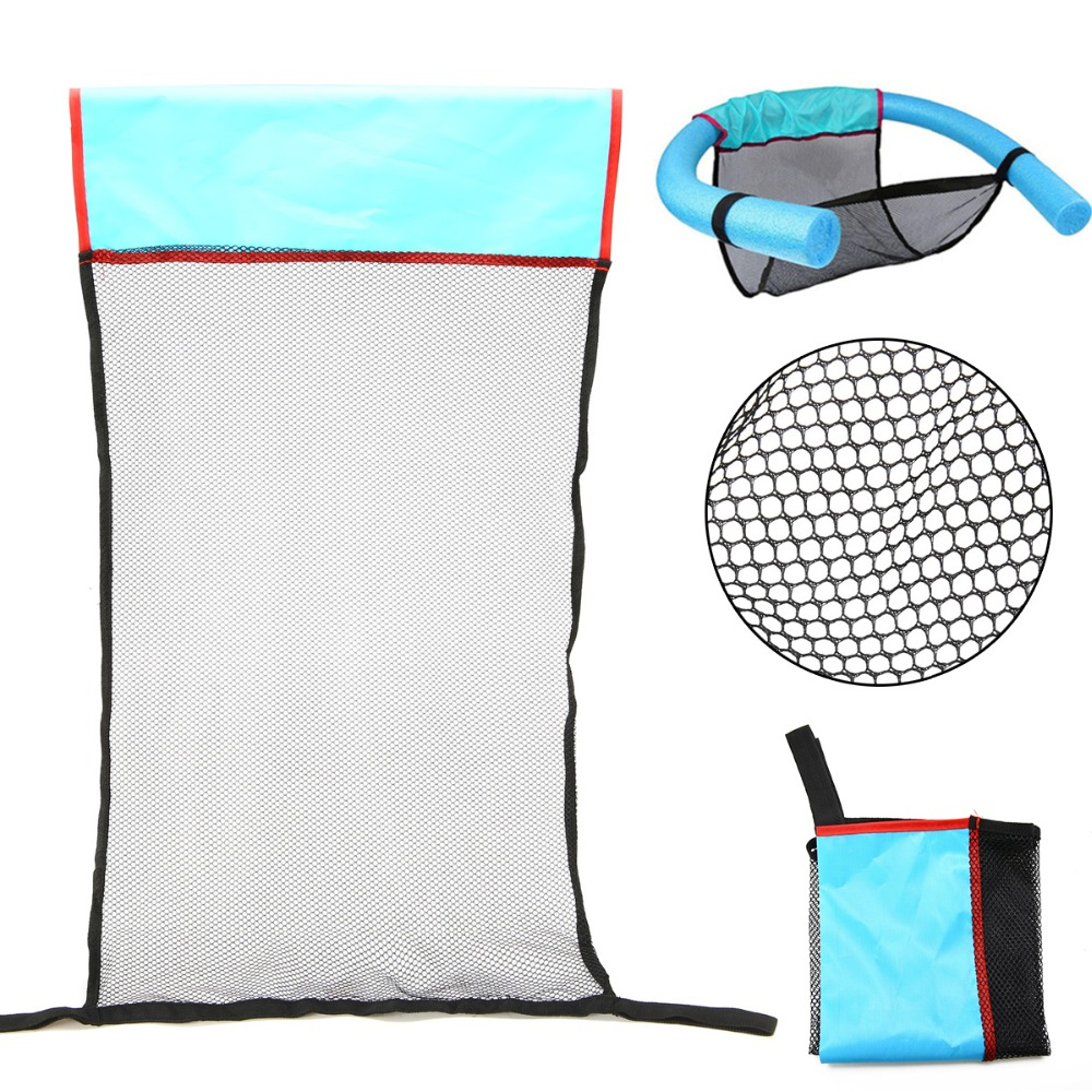 1PCS Polyester Floating Pool Noodle Sling Mesh Chair Net For Swimming Pool Party Kids Bed Seat Water Relaxation 82X44X0.2cm
