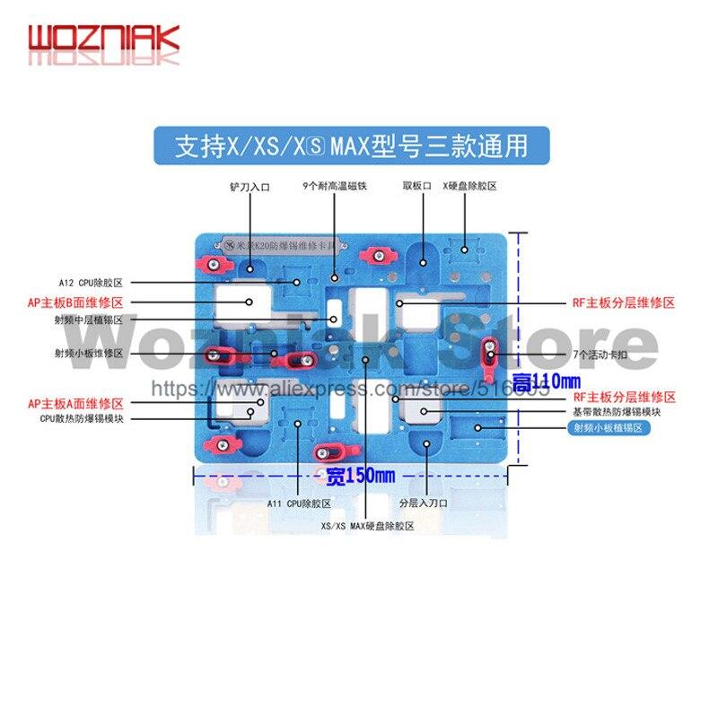 K20 Multifunctional Motherboard Repair Fixture For IPhone X/XS/XS MAX Multi-purpose Prevent Explosive Tin Repair Fixtures Clamp