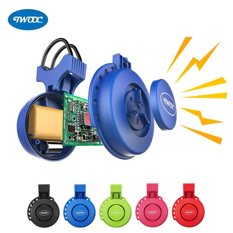 TWOOC 120dB Super Loud Electrical Alarm Horn Sound Electric Bicycle Bell Cycling Bike Ring Speaker Handlebar Horns Waterproof