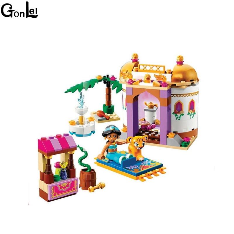 GonLeI  10434 145pcs Dream Sleeping Girl Series Aladdin Princess Jasmine Bricks Building Block Toys lepin toys for children