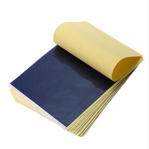 Image 3 - 100 arkuszy papier do transferu tatuażu papier do tatuażu w formacie A4 szablon termiczny papier do kopiarki węglowej do tatuażu