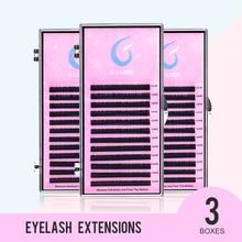 GJLash 3Case Set 12 Lines 9-15mm Individual Eyelash Extension J/B/C/D Individual Lashes Extension High-Quality Natural Eyelashes c d l curl individual lashes high quality 9 15mm 100