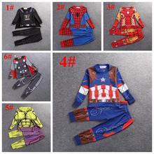 Children pajamas cosplay Cartoon Boy Pajamas Sleepwear Star Wars Avengers Iron Man boy tracksuit kids clothing set