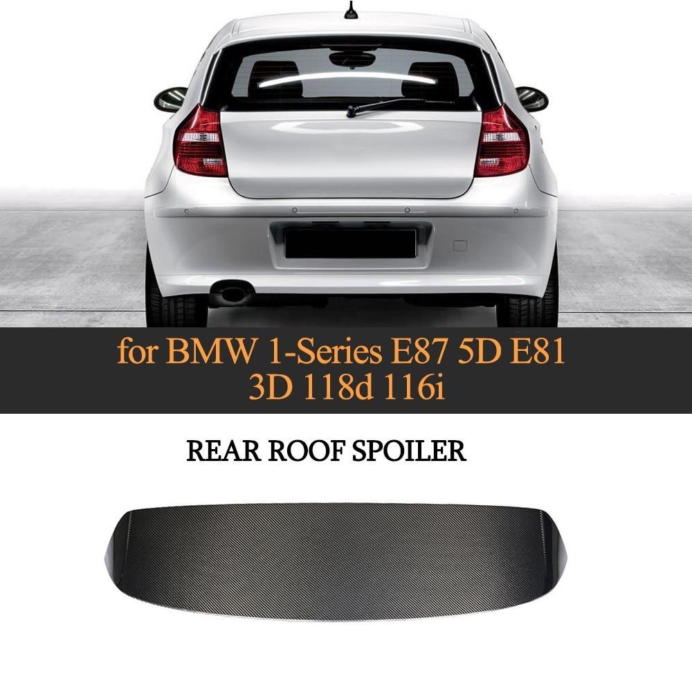 Aileron de toit de voiture aile pour BMW E87 120i 130i 135i 2 portes 4 portes 2005-2010 fibre de carbone FRP apprêt gris