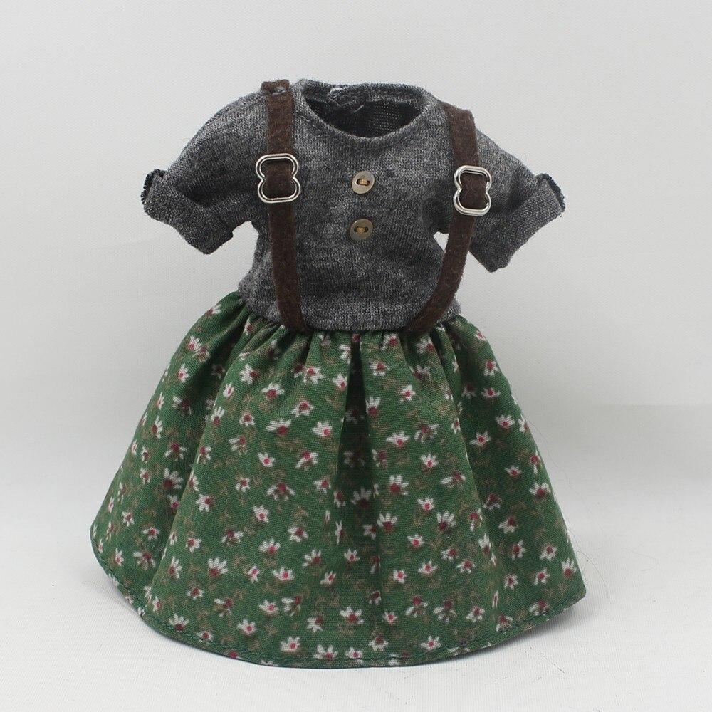 Neo Blythe Doll Floral Suspender Dress 4