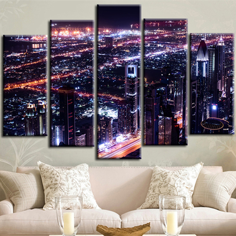oversized wall art cheap picture large font oversize night view abstract  modern etsy canvas sets