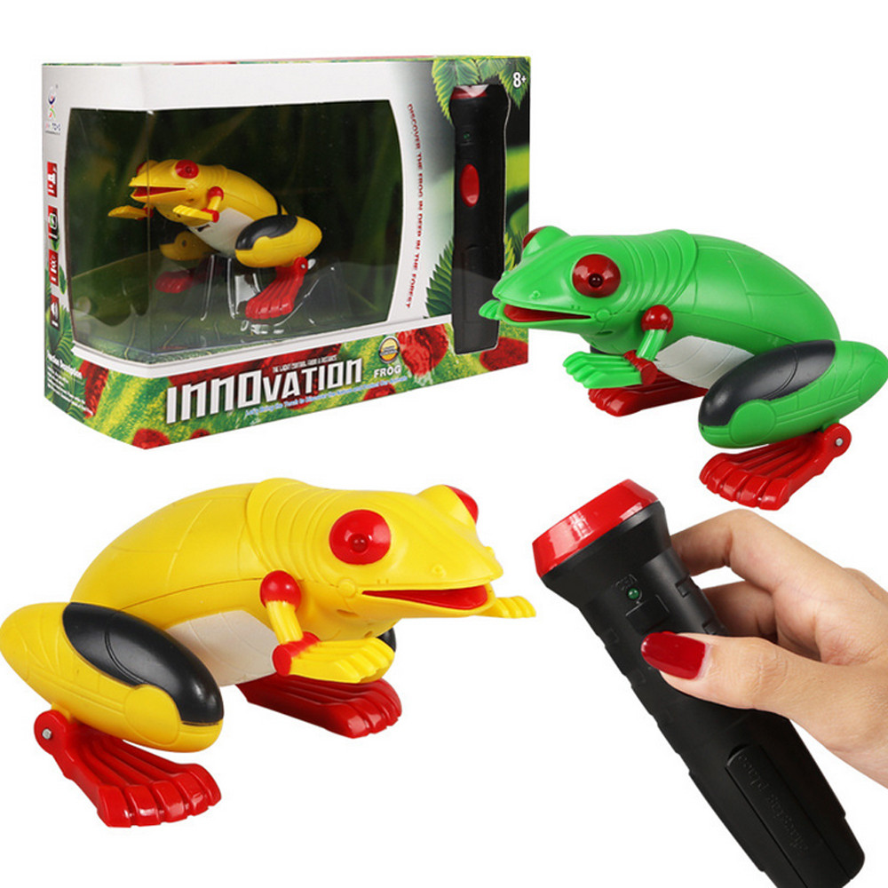 Kids Holiday Gift Toy Prank Fake Froggy Simulation Light-Sensor Remote Control Education Toy Baby Toys & Games Children