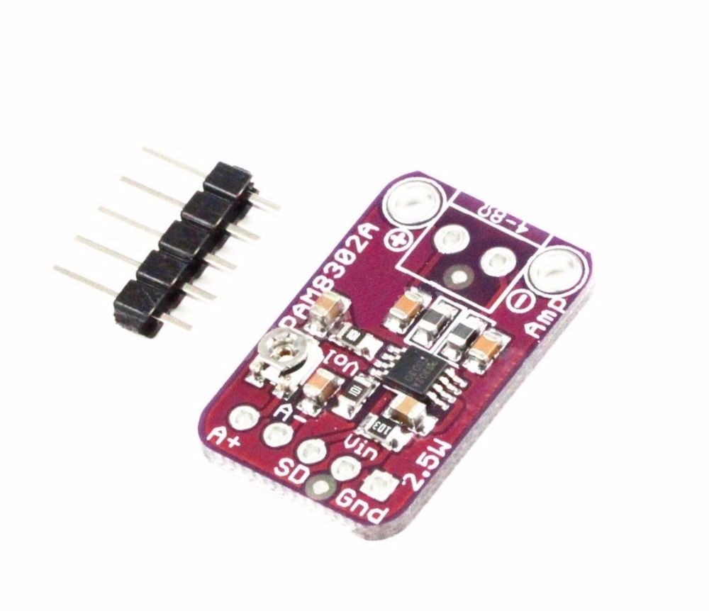 2PCS PAM8302 2.5W Class D Single Channel Audio Amplifier Board Amp Module