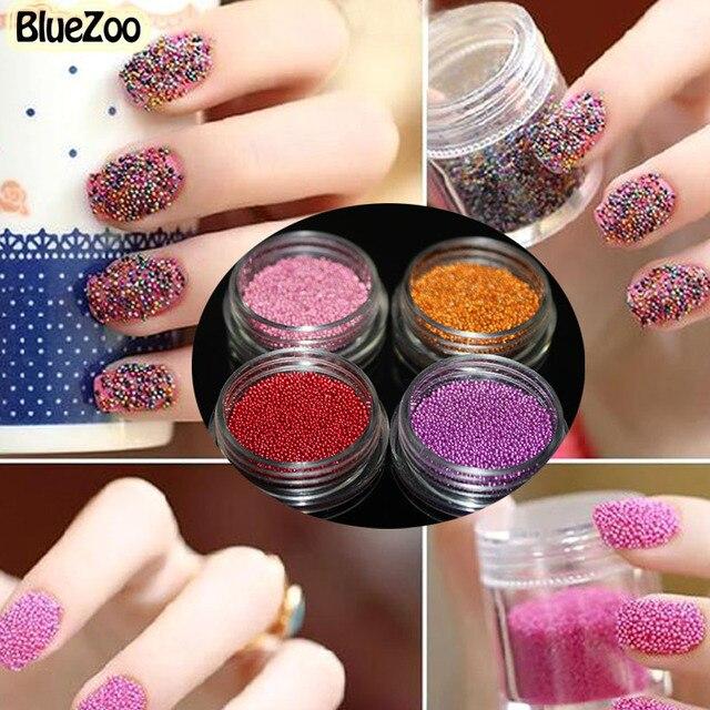 Bluezoo 12 Boxset Mini Circle Caviar Nail Art Beads 3d Nail Art