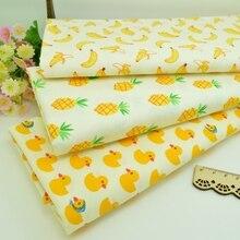 100*160 см банан ананас утка лоскутное изделие из хлопчатобумажной ткани ручной работы лоскутное шитье Детские простыни платье материал