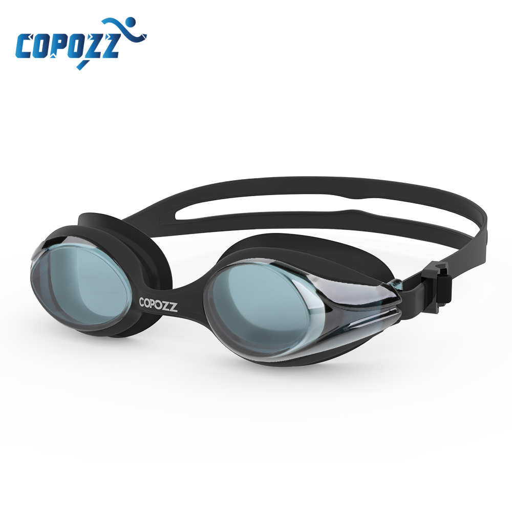 COPOZZ Professional Men Women Swimming Goggles Anti Fog  Leak UV Protection Swim Eyewear Adjustable Adult Water Glasses Zwembril