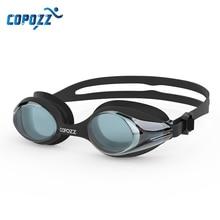 COPOZZ Professional Men Women Swimming Goggles Anti Fog  Leak UV Protection Swim Eyewear Adjustable Adult Water Glasses Zwembril