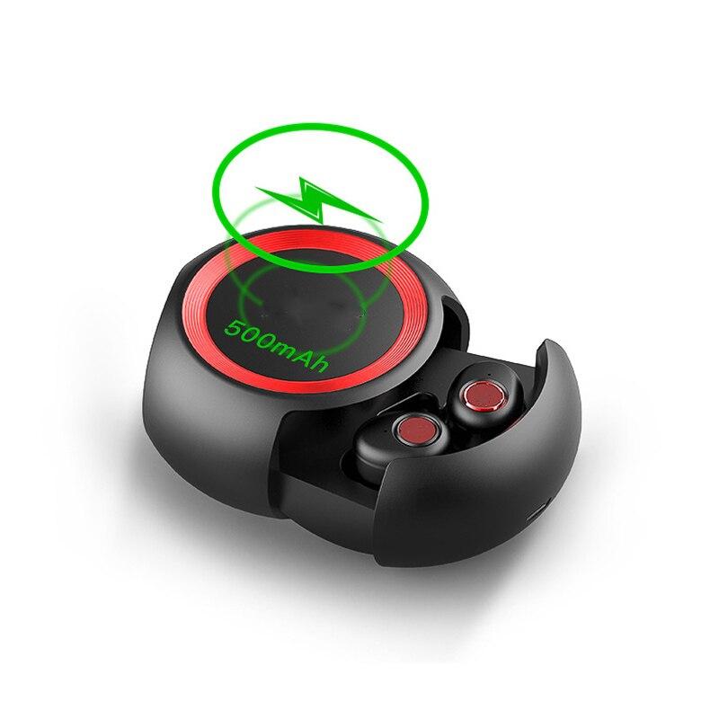 LEORY mini bluetooth sans fil 5.0 Écouteurs stéréo sans fil écouteurs avec microphones Mains Libres écouteurs pour iphone pour Huawei