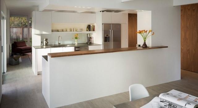 Moderne Keuken Ontwerpen : Gratis ontwerp aangepaste hoogglans lak keukenkastje massief houten