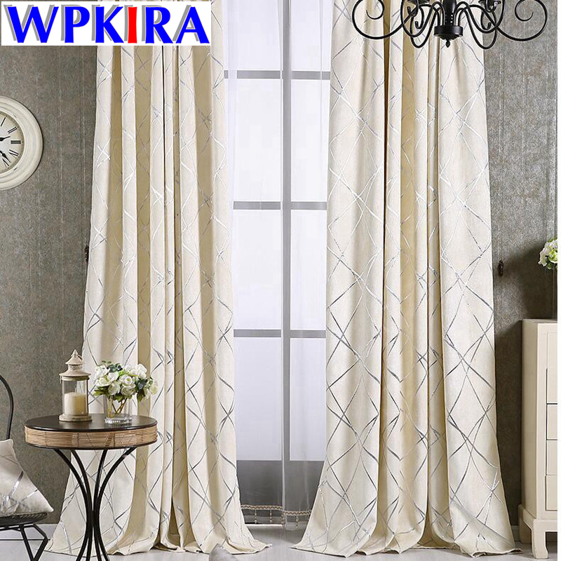 Us 3 36 30 Off Luxury Damask European Window Treatment Elegant Thick Curtains Fabric Living Room Grey Jacquard D Sheer White Tulle Wp293 In