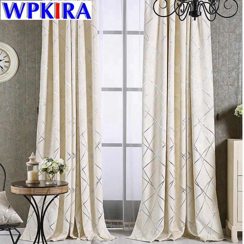 Luxury Damask European Window Treatment Elegant Thick Curtains Fabric Living Room Grey Jacquard Drapes Sheer White Tulle WP293-3