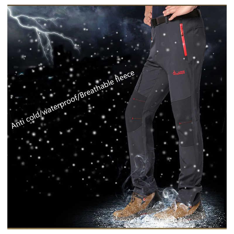 Новые мужские зимние брюки мужские уличные быстросохнущие толстые флисовые брюки Капри теплые брюки Софтшелл Мужские Женские походные и походные брюки