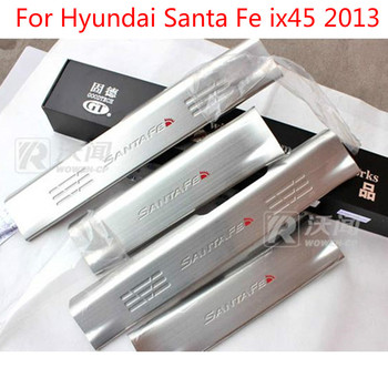 High quality stainless steel internal Scuff Plate/Door Sill  For Hyundai Santa Fe ix45 2013 Car-styling Car-covers