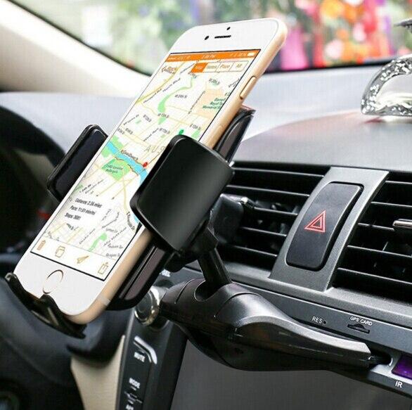 Поворотный Автомобиль <font><b>CD</b></font> слот GPS Планшеты мобильный телефон горе стенд держатели для Galaxy A8 (2018) /A8 + (2018), Wiko вида/просмотра xl/просмотра премьер