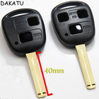 DAKATU Replacement Car Remote case For Lexus RX300 ES300 IS35 IS200 ES240 Remote Key Shell 2/3 Button TOY48 (Short) with LOGO
