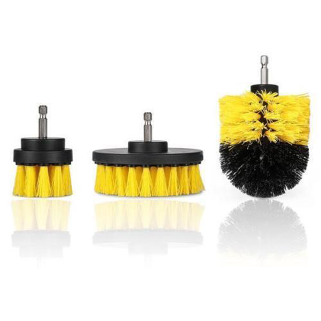 Cleaning Tools 3Pcs/Set Power Scrubber Brush Drill Brush Clean for Bathroom Surfaces Tub Shower