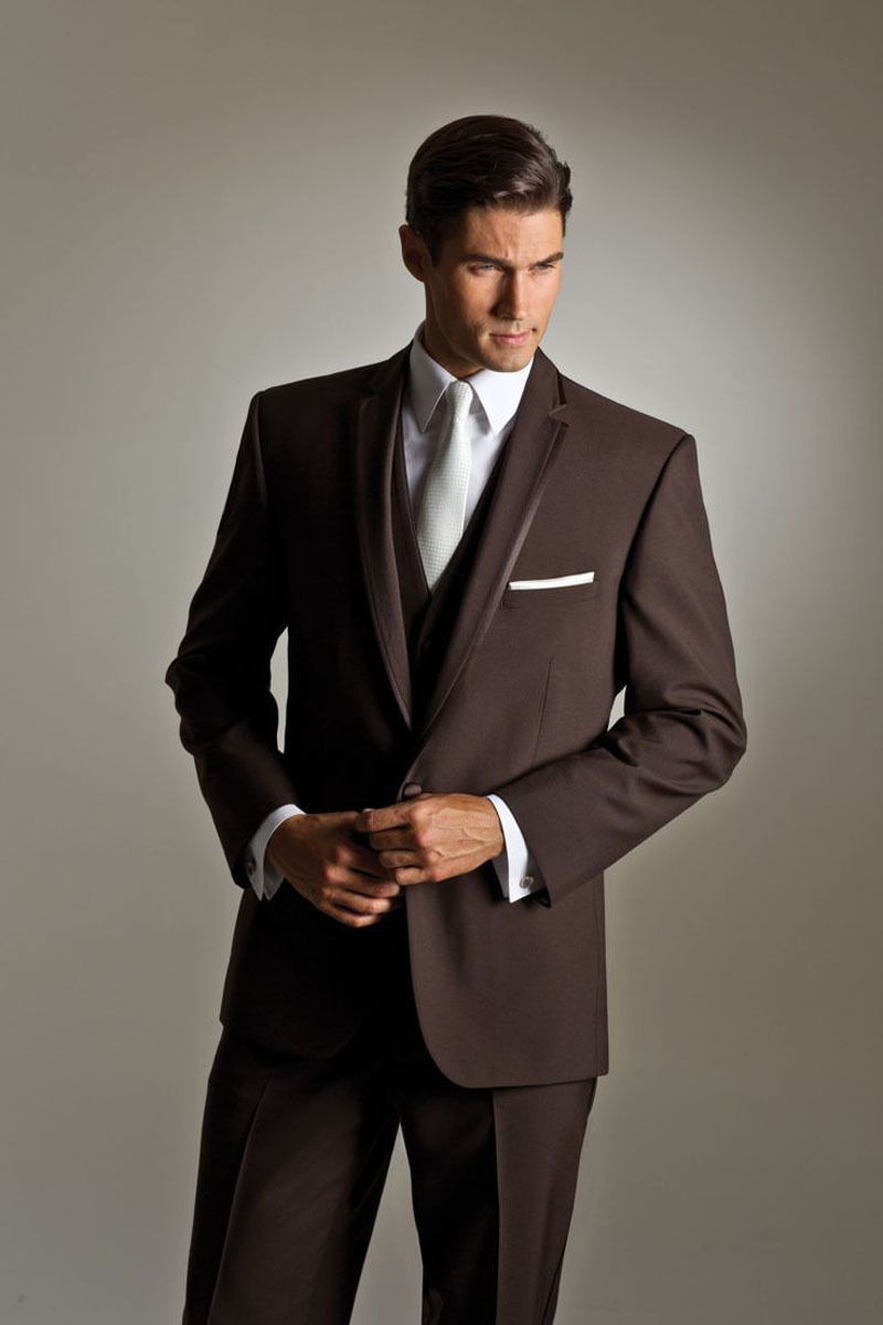 Brown Suit Wedding - Vosoi.com