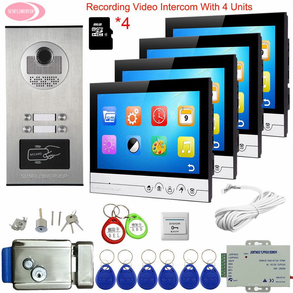 Video Intercom For 4 Apartments 9