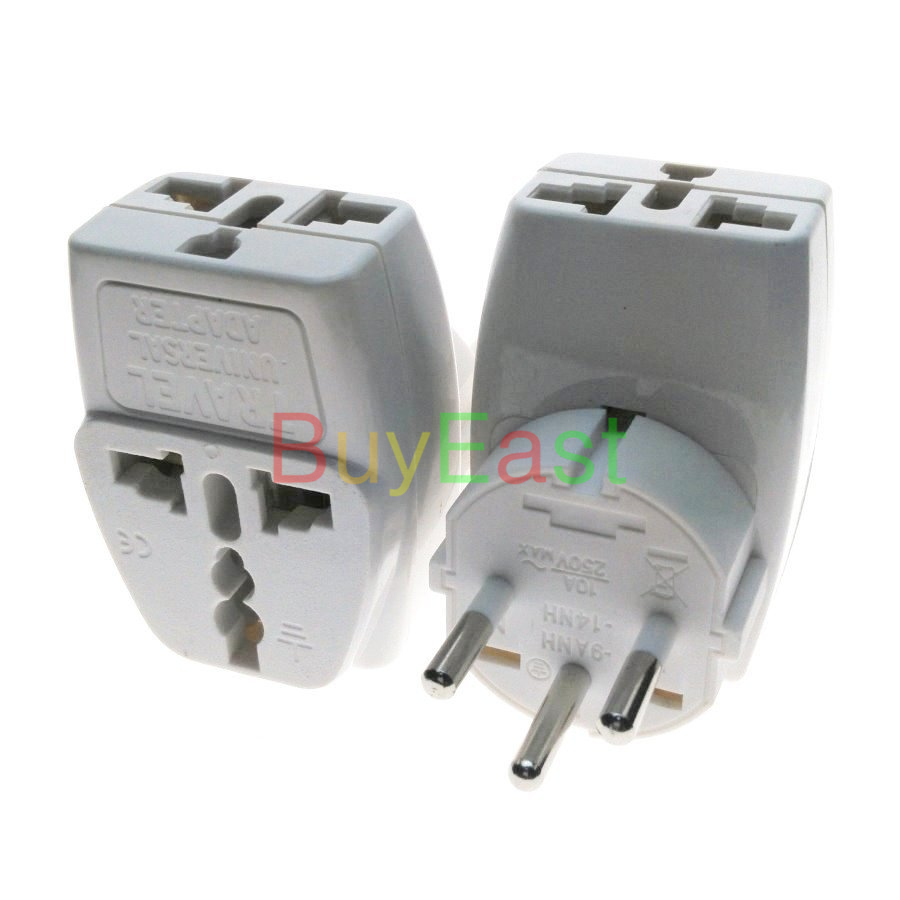 India/Sri Lanka 3 Multi Outlet Type D Wall Socket Power Plug Adapter ...