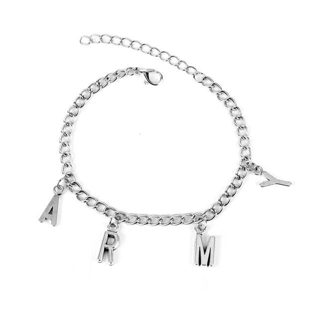 Whole Kpop Bts Bangtan Boys Link Chain Charm Bracelet Hot Gift For A R M Y