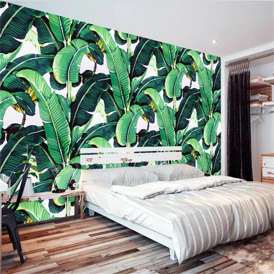 3d wallpaper photo wallpaper custom wall mural living room plant plantain leaf oil painting sofa TV background non-woven sticker 3d room photo wallpaper custom mural moth orchid 3d photo painting room sofa tv background wall wallpaper non woven wall sticker