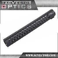 Вектор Оптика Тактический 16,5 дюймов AR 15 M4 M16 KeyMod Handguard Пикатинни Гора углеродного волокна Стекло полимерных легкий Вес