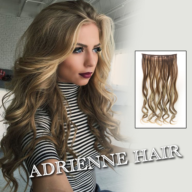 Hot 5clips 24inch One Piece Curly Hair Clip In Ombre Tone Dip Dye