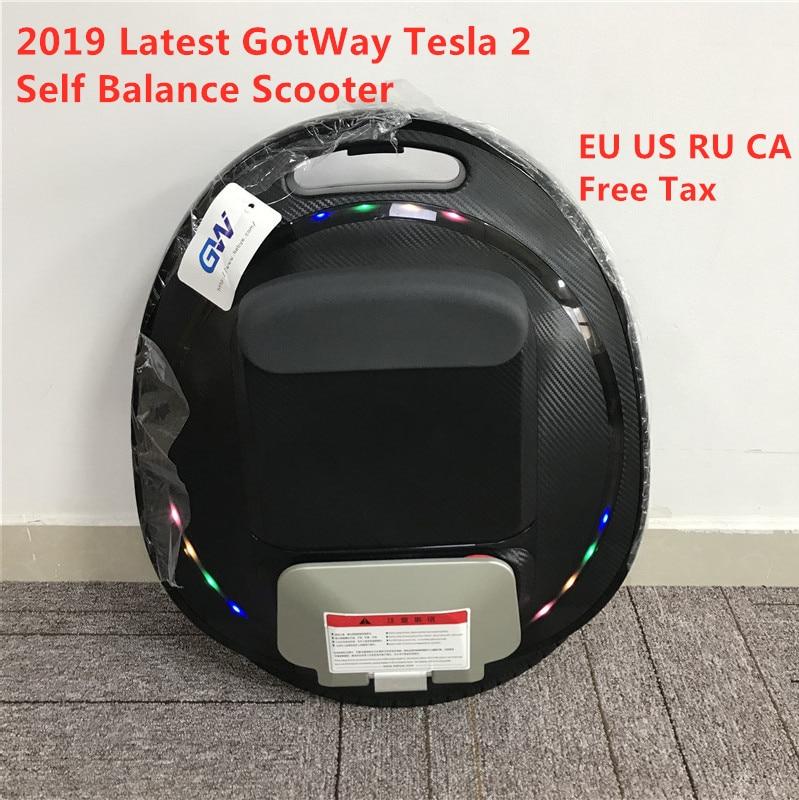 2019 amélioré GotWay Tesla 2 auto équilibrage Scooter 84V 1020WH 2000W moteur 16