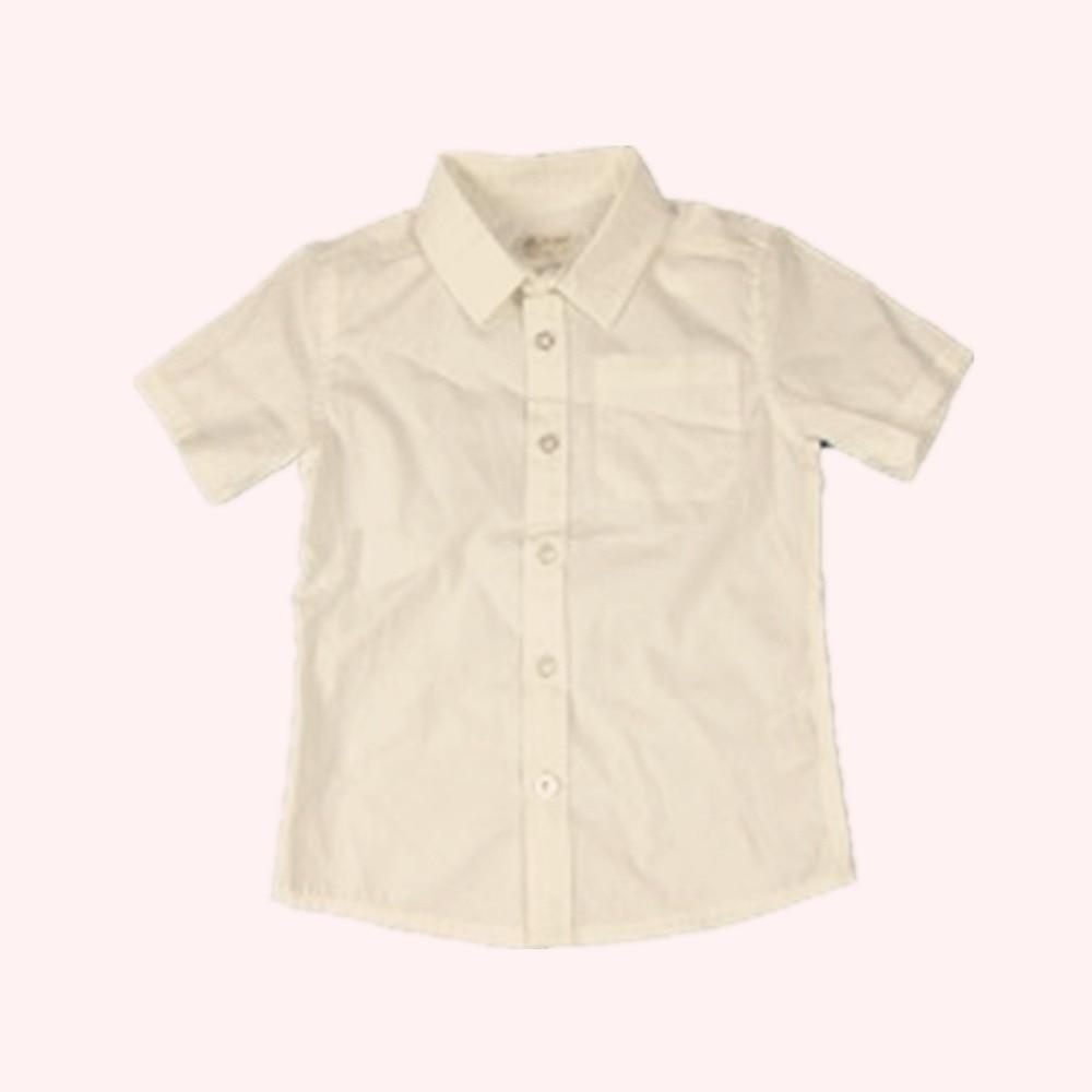 100% bawełna BOY popelina BAWEŁNIANA KOSZULA SOLIDNA BARWIONY - Ubrania dziecięce - Zdjęcie 3