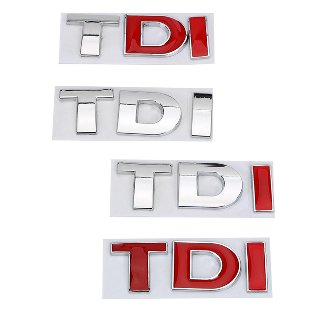 Emblema Do Emblema para VW Golf JETTA PASSAT MK4 MK5 MK6 Logotipo TDI Turbo de Injeção Direta 3D Reflexivo Etiqueta Do Carro de Metal decalque