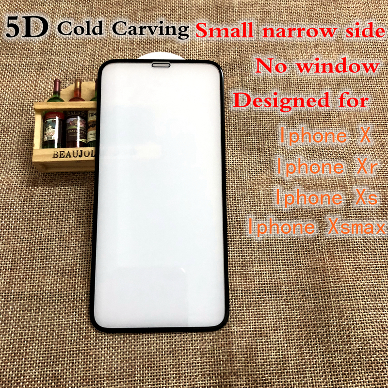 Xwmaki 5D Cold Carving Full Cover Screen Protector Tempered Glass For IPhone XSmax Xr Xs 11 Pro max 2019 No Window Hardness Edge