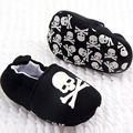 Cute Infant Baby Girl Boy Skull Pirate Printed Soft Bottom Cotton Crib Shoes