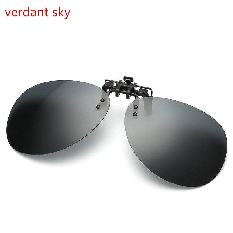 2017 new carré miroir lunettes de soleil polarisées clip pour femmes hommes  revêtement myopie clip sur lunettes de soleil uv400 long clip 3946e291e2b7