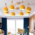 Скандинавский минималистичный светильник из цельного дерева для спальни  креативный подвесной светильник для спальни  гостиной  бара  свет...