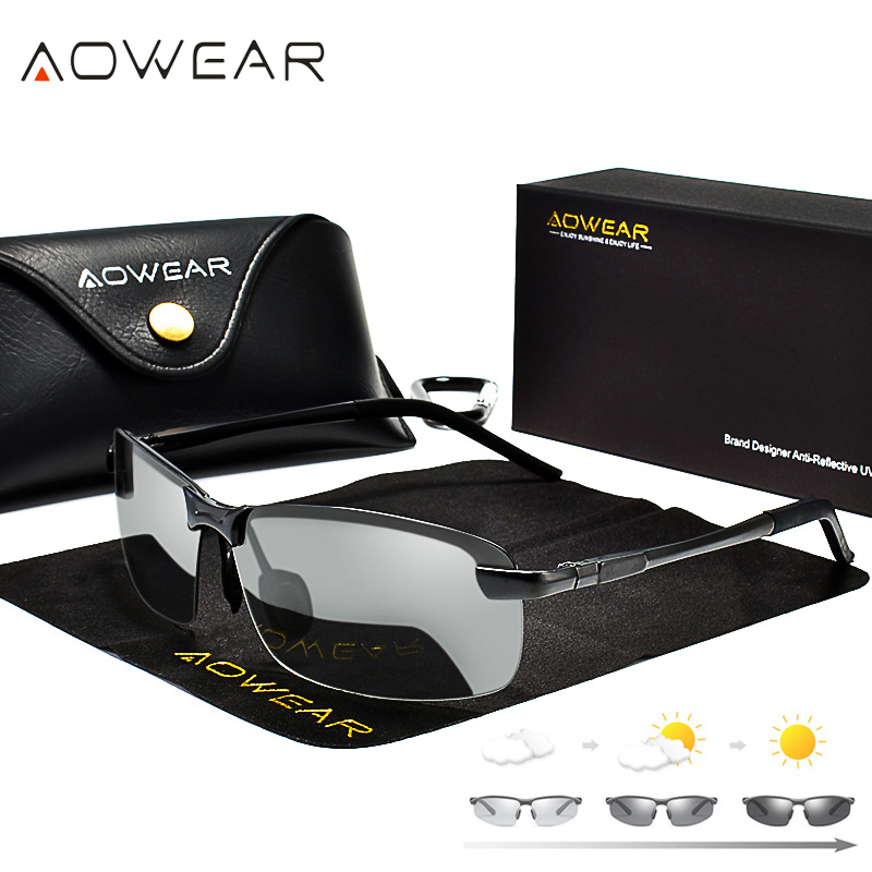 AOWEAR Fahren Polarisierte Photochrome Sonnenbrille Männer Chamäleon Brille Männer Sonnenbrille Fahrer Brille oculos lentes de sol hombre