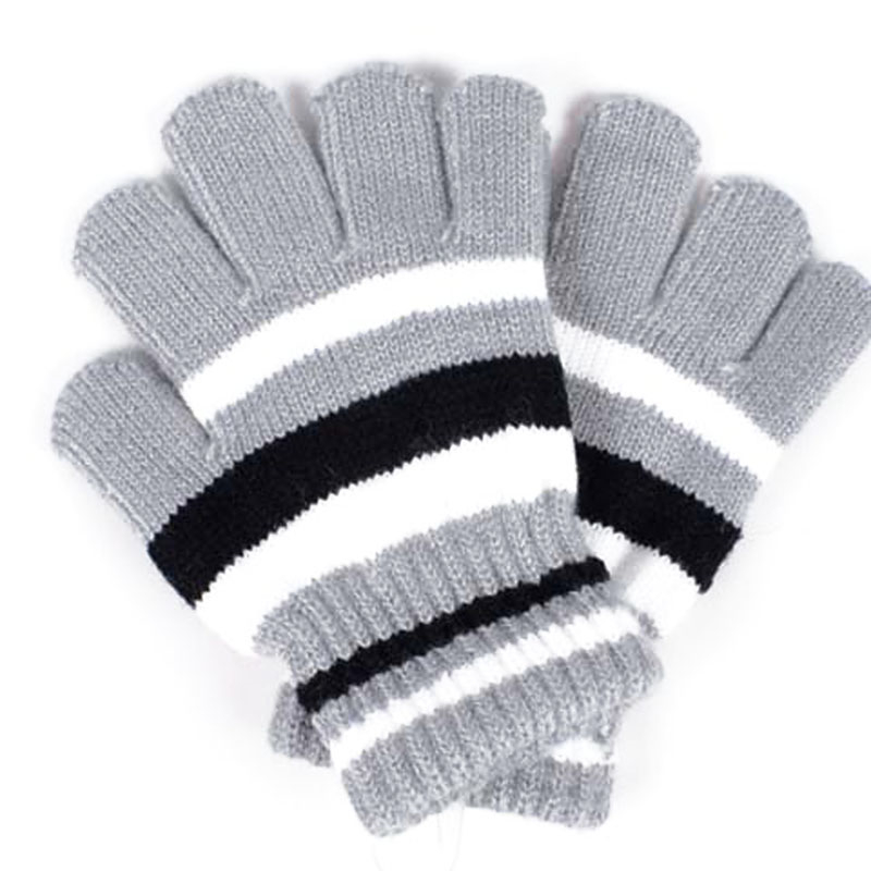 Winter Children Magic Stretchy Gloves Mittens Girls Boys Warm Knitted Gloves Kids Stripe Warmer New Fashion Wrist Winter Gloves