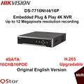 Hikvision original inglês versão ds-7716ni-i4/16 p 16ch nvr com 4 sata e 16 poe, hdmi até 4 k, Gravação de alarme de até 12MP DHL