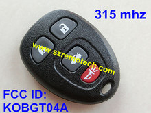Top quality lowest price+For GMC 4Button 315MHZ Remote Key FCC ID:KOBGT04A  4 button for GMC hummer