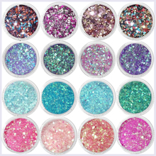 1Box 0.2-2mm Nail Art Glitter Powder Squines 31Color For Eye Face Body Shiny Sequin 10ml Decor