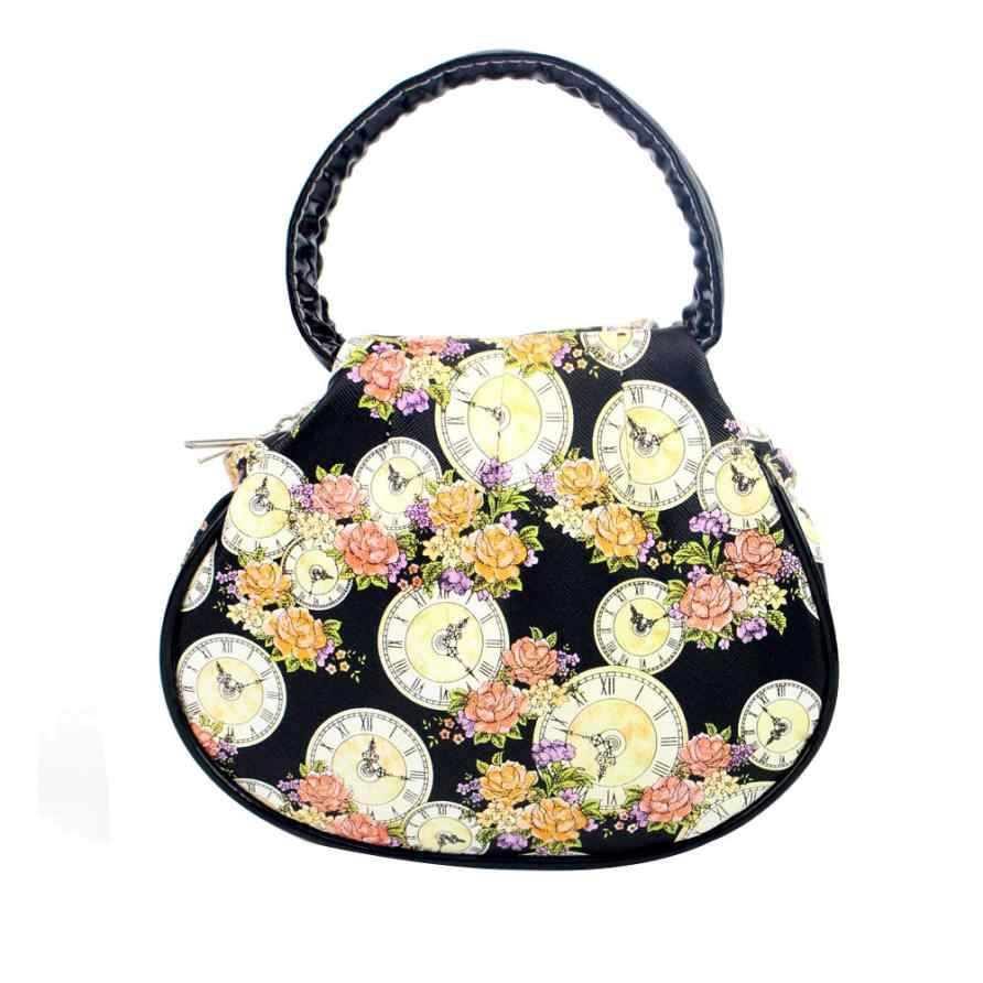 ... Fashion high quality Flower Clock leather handbag lady Famous brand small  clutch bag women s bags bolsas ... 9c2a9f5024f29
