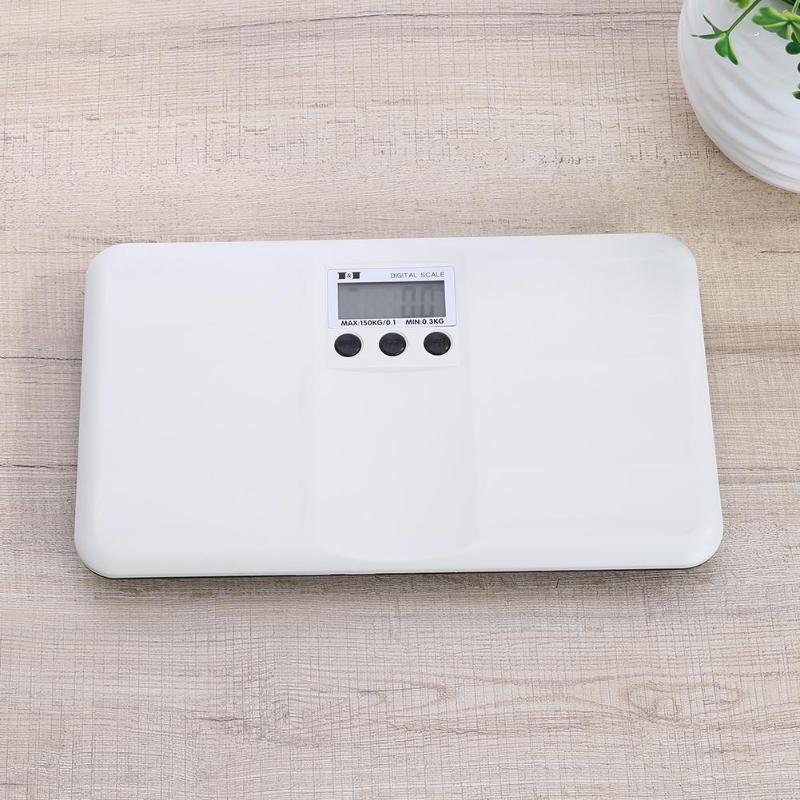 150kg/100g Newborn Baby Scale Portable Digital LCD Weighting On/Tare Function Battery/Lock Alarm Children's Body Weighting